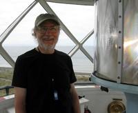 Alex at Dungeness lighthouse