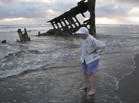 Angela at Peter Iredale