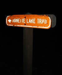 Annette Lake Trail sign on Iron Horse Trail
