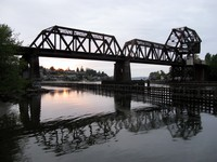 Ballard Locks railroad bridge