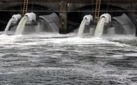 Ballard Locks water out the pipe