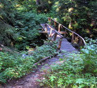 Bare Mountain trail bridge