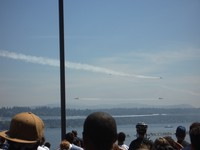 Blue Angels and crowd
