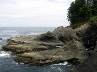Cape Flattery watered rock
