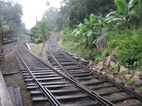 Colombo to Kandy cutoff tracks