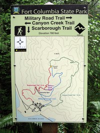 Fort Columbia trail map