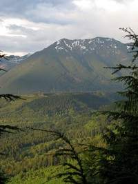 Mailbox Peak from Cedar Butte