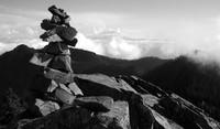 McClellan Butte rocks and Mt Rainier