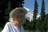 Mom at Paradise Mt Rainier