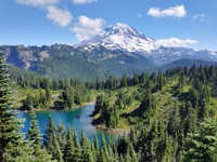 Mount Rainier and Eunice Lake
