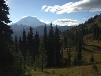 Mount Rainier from Naches Peak trail