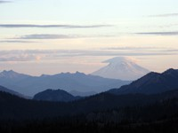 Mt Adams as seen from a northern hill