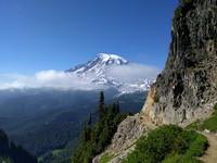 Mt Rainier behind Pinnacle Peak Trail