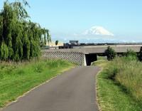 Mt Rainier from Tukwila bikeway