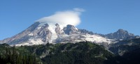 Mt Rainier under cloud