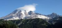 Mt Rainier under cloud