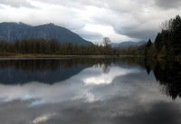 Mt Si beyond Borst Lake