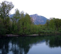 Mt Si from Snoqualmie River