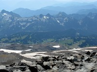 Paradise from Camp Muir trail