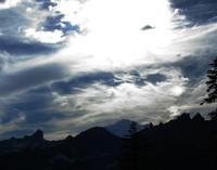 Rainier sun sky