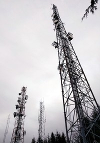 Rattlesnake Mountain radio towers
