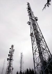 Rattlesnake Mountain radio towers