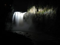 Snoqualmie Falls at night demon take the falls
