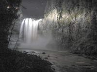 Snoqualmie Falls at night hdr
