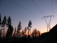 South Tiger Mountain power lines