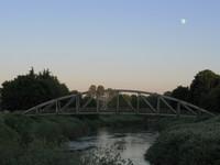 Tukwila bikeway bridge and moon