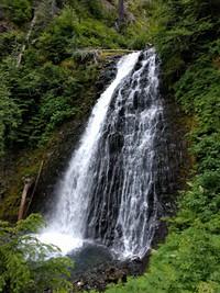a waterfall on Stevens Creek trail