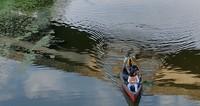 canoeing on Mercer Slough