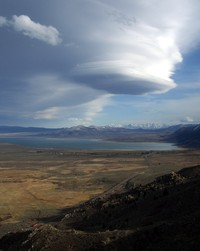cloud over Mono Lake