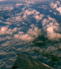 clouds flying over Washington