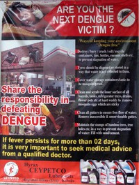 dengue fever sign