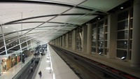 detroit airport train track