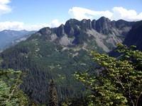 eastern mountain from  McClellan Butte trail
