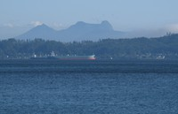 freighters and Saddle Mountain