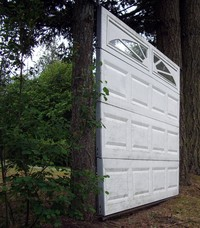 garage door to nowhere