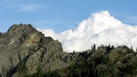 hill and cloud near Sourdough Gap