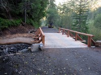 new bridge on way to Ipsut Creek