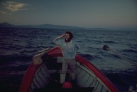 Alex in gillnet boat with net out 1974
