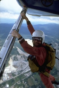 Alex taking the shortcut to Issaquah airport 1987
