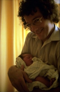 Alex with newborn Scott