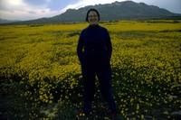 Angela in wildflowers east of Palmdale 1983