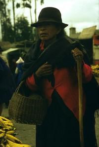 Equadorian women in market 1980