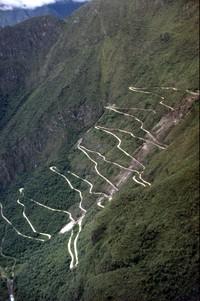 Machu Picchu road from Huayna Picchu