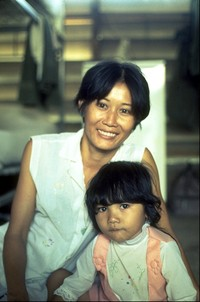 Mama San with daughter in barracks Tan Son Nhat Saigon 1970