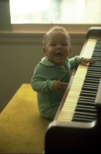 Scott playing an early piano gig