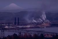 St Helens behind Rainier Bridge and mill 1971